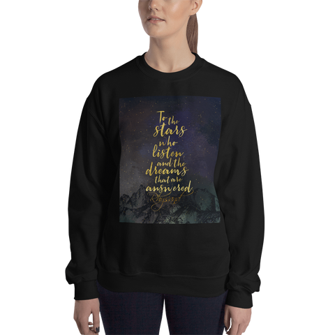 To the stars who listen... Rhysand Quote Unisex Sweatshirt