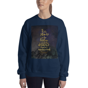 To the stars who listen... Rhysand Quote Unisex Sweatshirt - LitLifeCo.