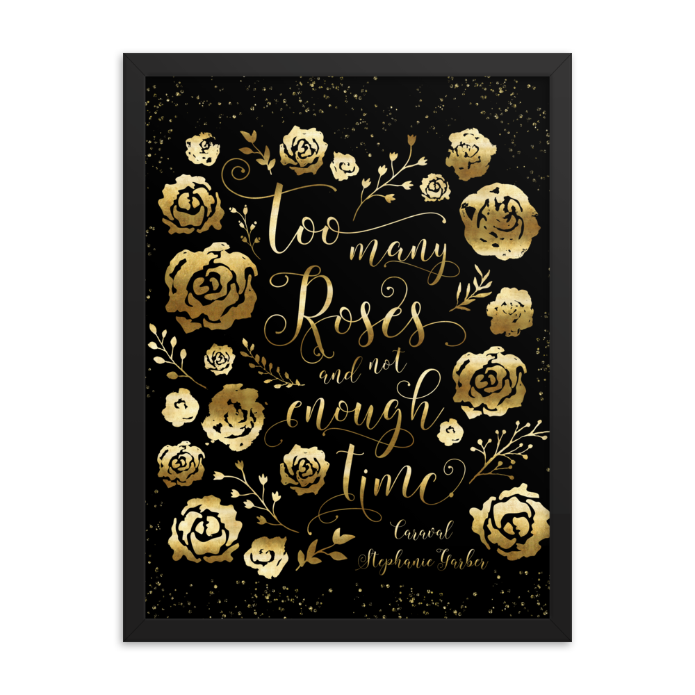 Too many roses... Caraval Quote Art Print - LitLifeCo.