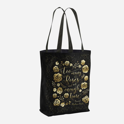 Too Many Roses Caraval Quote Tote Bag - LitLifeCo.