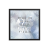 For death and mourning the color's WHITE. Shadowhunter Children's Rhyme Quote Art Print