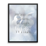 For death and mourning the color's WHITE. Shadowhunter Children's Rhyme Quote Art Print - LitLifeCo.