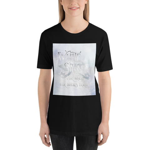 WHITE SILK when our bodies burn.  Shadowhunter Children's Rhyme Quote Unisex Short Sleeved Shirt - LitLifeCo.