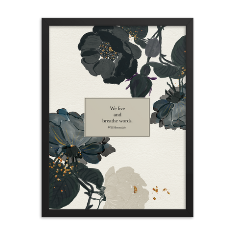 We live and breathe words. Will Herondale Quote Art Print