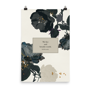 We live... Will Herondale Quote Art Print - LitLifeCo.