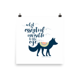 What is essential is invisible to the eye. The Little Prince Quote Art Print - LitLifeCo.