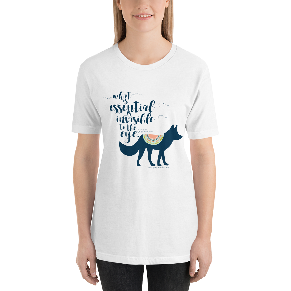 What is essential... The Little Prince Quote Unisex Short Sleeved Shirt - LitLifeCo.