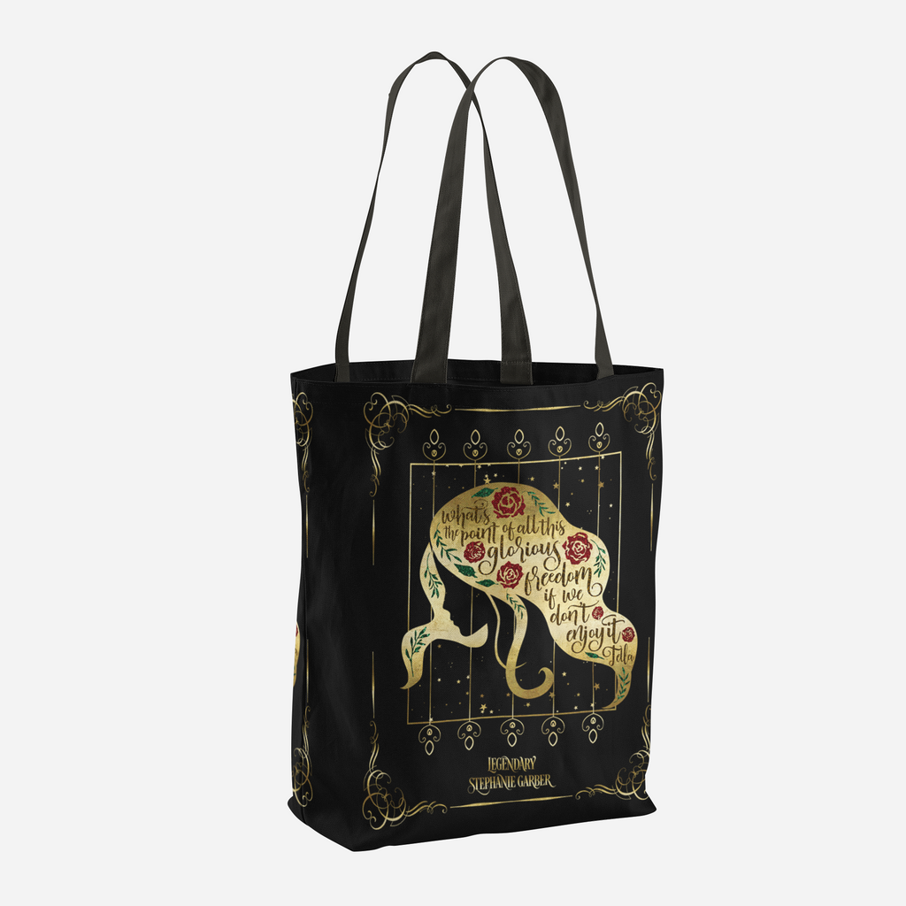 What's the point of all this glorious freedom if we don't enjoy it? Tella Quote Tote Bag