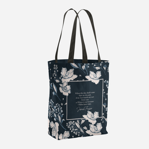 When the day shall come... Jamie Fraser Quote Tote Bag - LitLifeCo.