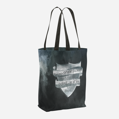 When you're armored... Game of Thrones (A Song of Ice and Fire) Quote Tote Bag - LitLifeCo.