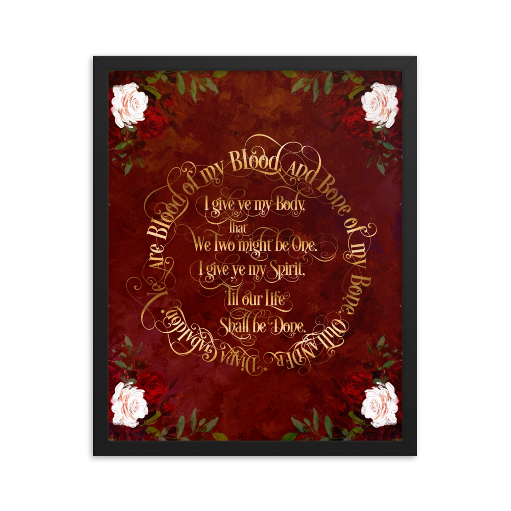 Outlander Wedding Vows Art Print - LitLifeCo.
