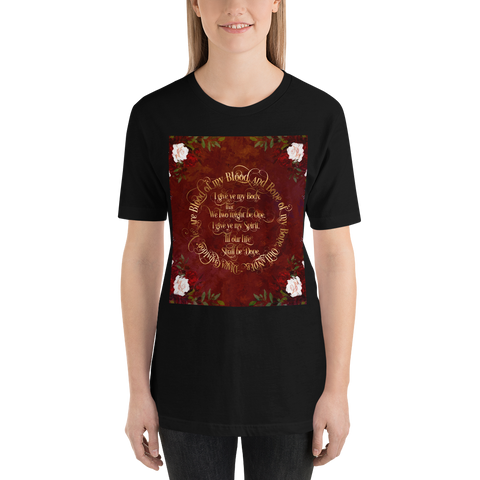 Outlander Wedding Vows Unisex Short Sleeved Shirt - LitLifeCo.