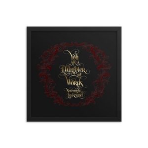 You are a daughter of words. Nevernight Quote Art Print - LitLifeCo.