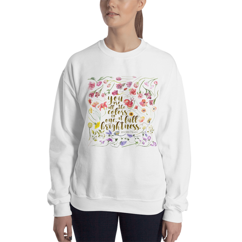 You are all the colors in one... All The Bright Places Quote  Unisex Sweatshirt