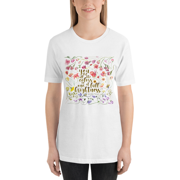 You Are All The Colors In One All The Bright Places Quote Unisex Sh Literary Lifestyle Company