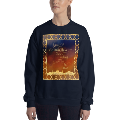 You are boundless... The Wrath and the Dawn Quote Unisex Sweatshirt - LitLifeCo.