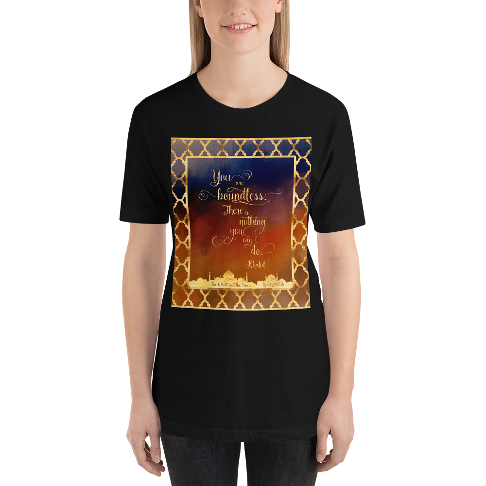 You are boundless... The Wrath and the Dawn Quote Unisex Short Sleeved Shirt - LitLifeCo.