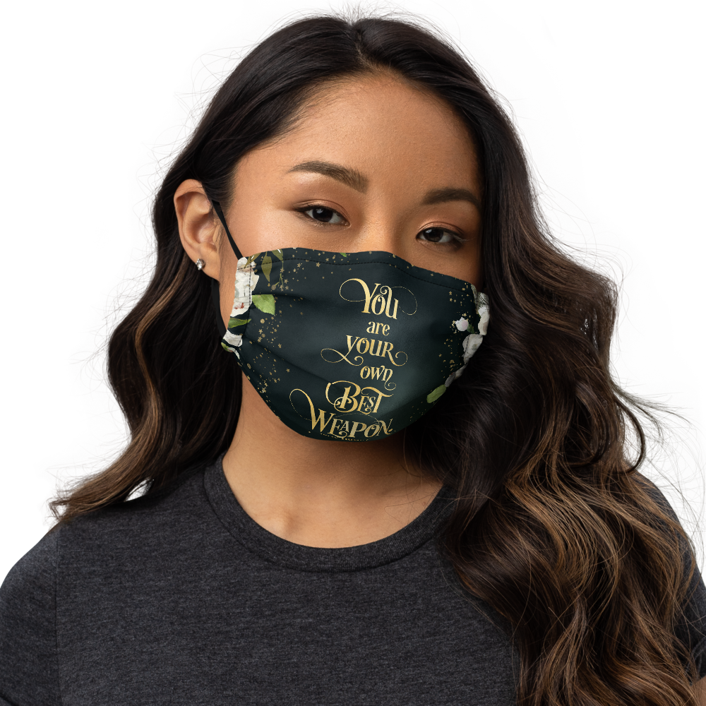 You are your own... The Winner's Kiss Premium Face Mask