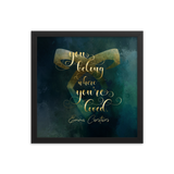 You belong where you're loved. Lady Midnight Art Print - LitLifeCo.