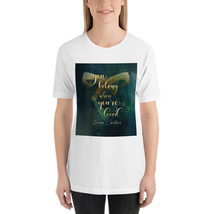 You belong where you're loved. Lady Midnight Quote Unisex Short Sleeved Shirt - LitLifeCo.