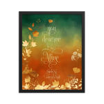 You deserve to be alive. Ignite Me Quote Art Print - LitLifeCo.