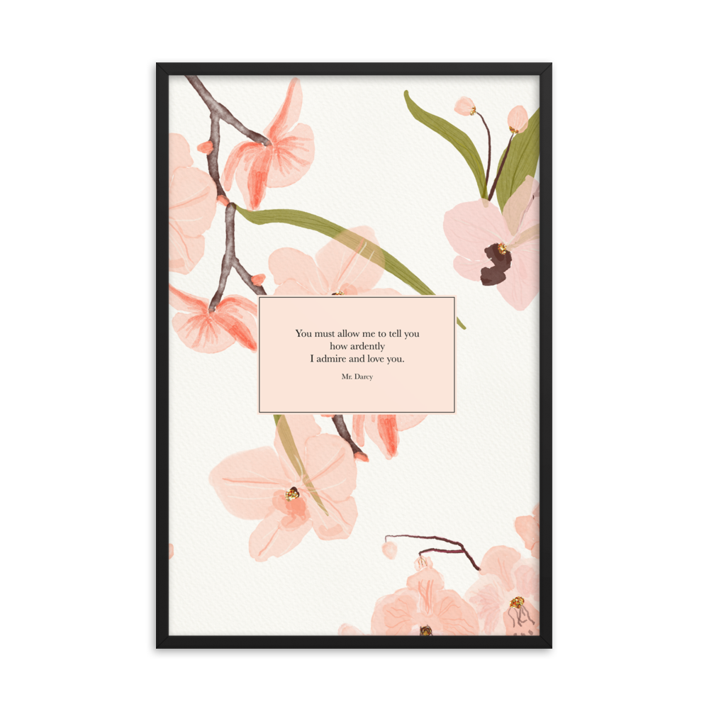 You must allow me... Mr. Darcy Art Print - Literary Lifestyle Company