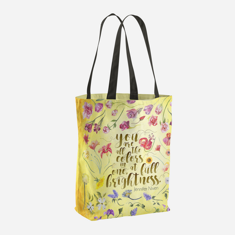 You are all the colors in one... All The Bright Places Quote Tote Bag - LitLifeCo.