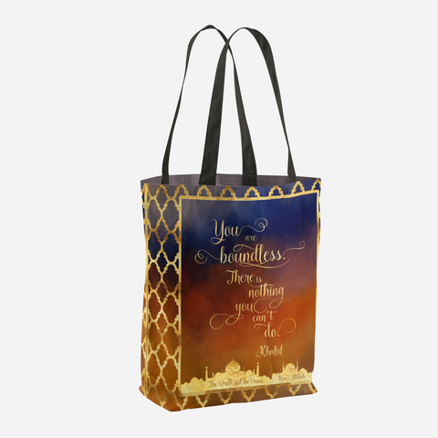 You are boundless... The Wrath and the Dawn Quote Tote Bag - LitLifeCo.