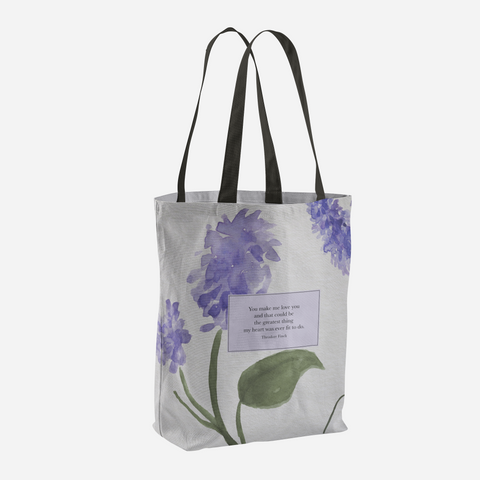 You make me love you... Theodore Finch Quote Tote Bag