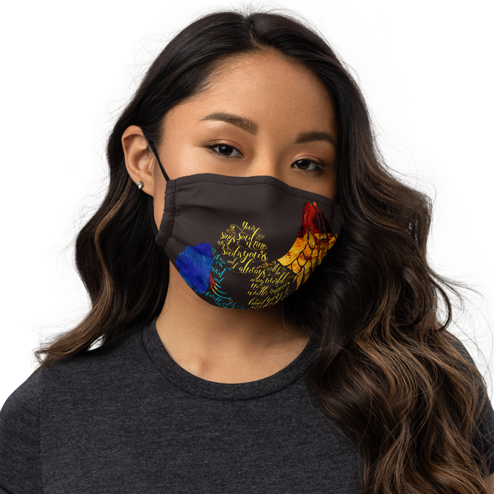 Your soul sings to mine... Daughter of Smoke and Bone Premium Face Mask