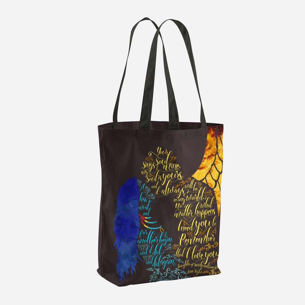 Your soul sings to mine... Daughter of Shadow and Bone Series Quote Tote Bag