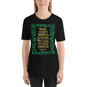 You're entirely bonkers... Alice in Wonderland Quote Unisex Short Sleeved Shirt - LitLifeCo.