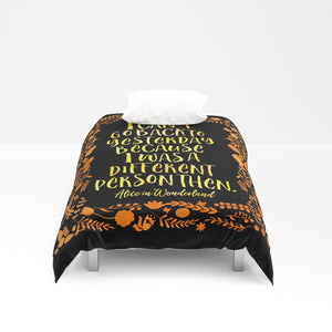 I can't go back to yesterday... Alice in Wonderland Duvet Cover - LitLifeCo.