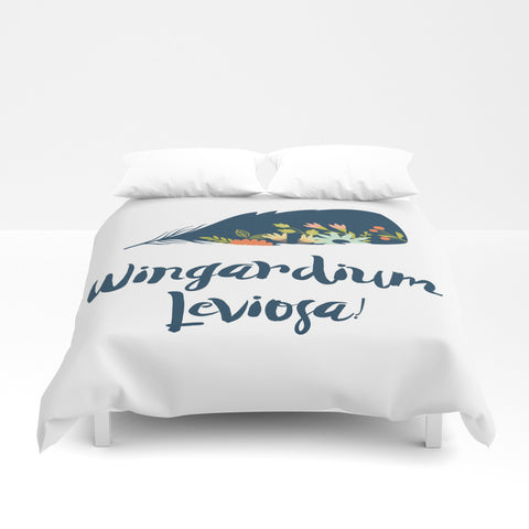 Wingardium Leviosa! Harry Potter Spell Floral Duvet Cover