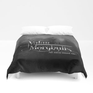 Valar morghulis. A Game of Thrones (A Song of Ice and Fire) Quote Duvet Cover - LitLifeCo.
