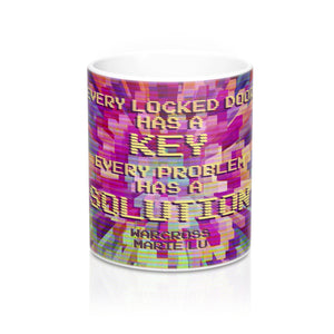 Every locked door has a key... Warcross Quote Mug - LitLifeCo.