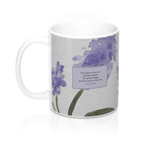 You make me love you... Theodore Finch Quote Mug