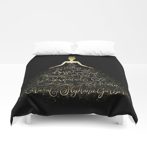 Scarlett's Enchanted Dress. Caraval Quote Duvet Cover