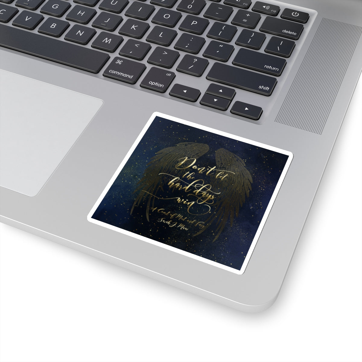 Don't let the hard days win. A Court of Mist and Fury (ACOMAF) Quote Sticker - LitLifeCo.