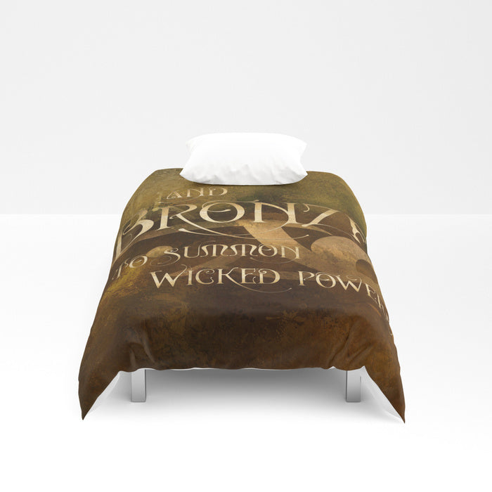 And BRONZE to summon wicked powers. Shadowhunter Children's Rhyme Quote Duvet Cover - LitLifeCo.