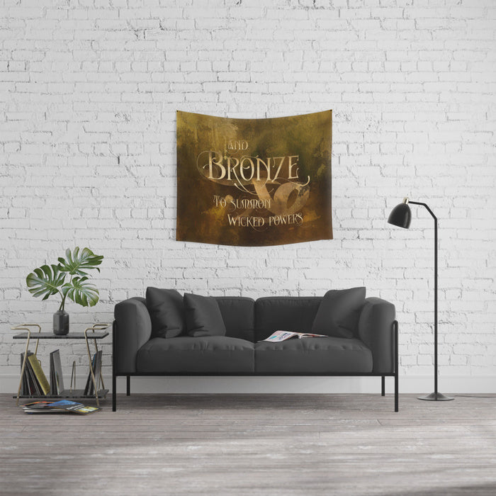 And BRONZE to summon wicked powers. Shadowhunter Children's Rhyme Quote Wall Tapestry - LitLifeCo.