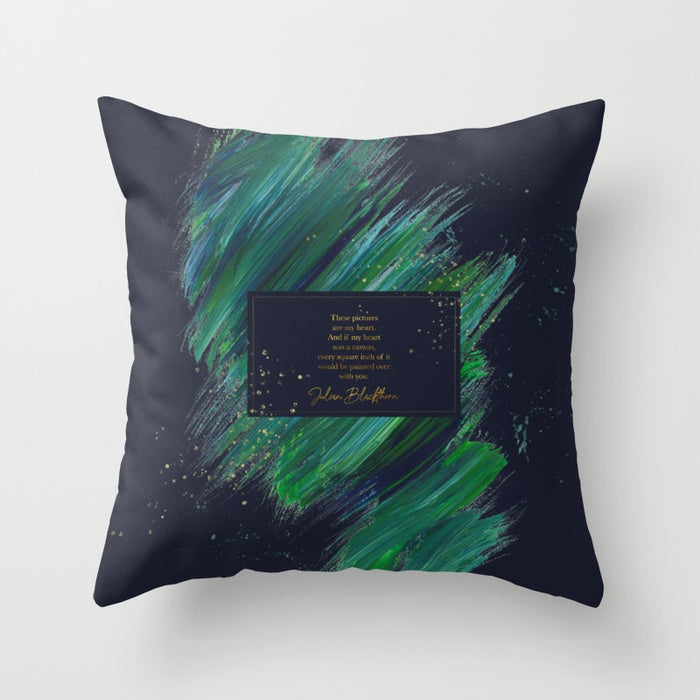 These pictures are my heart... Julian Blackthorn Quote Pillow