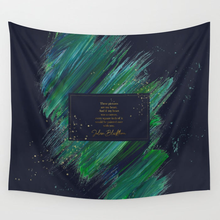 These pictures are my heart... Julian Blackthorn Quote Wall Tapestry - LitLifeCo.