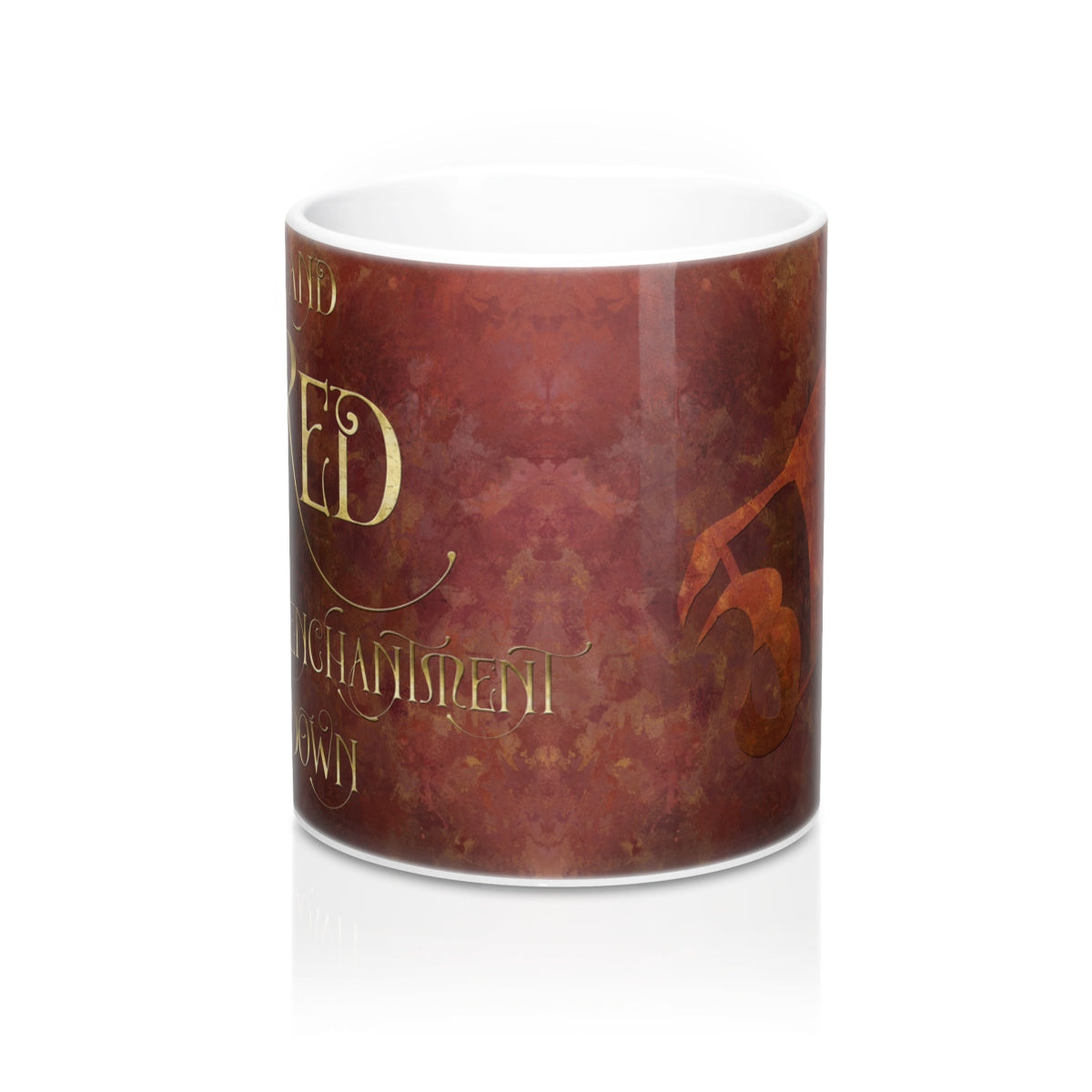 And RED to call enchantment down. Shadowhunter Children's Rhyme Mug - LitLifeCo.