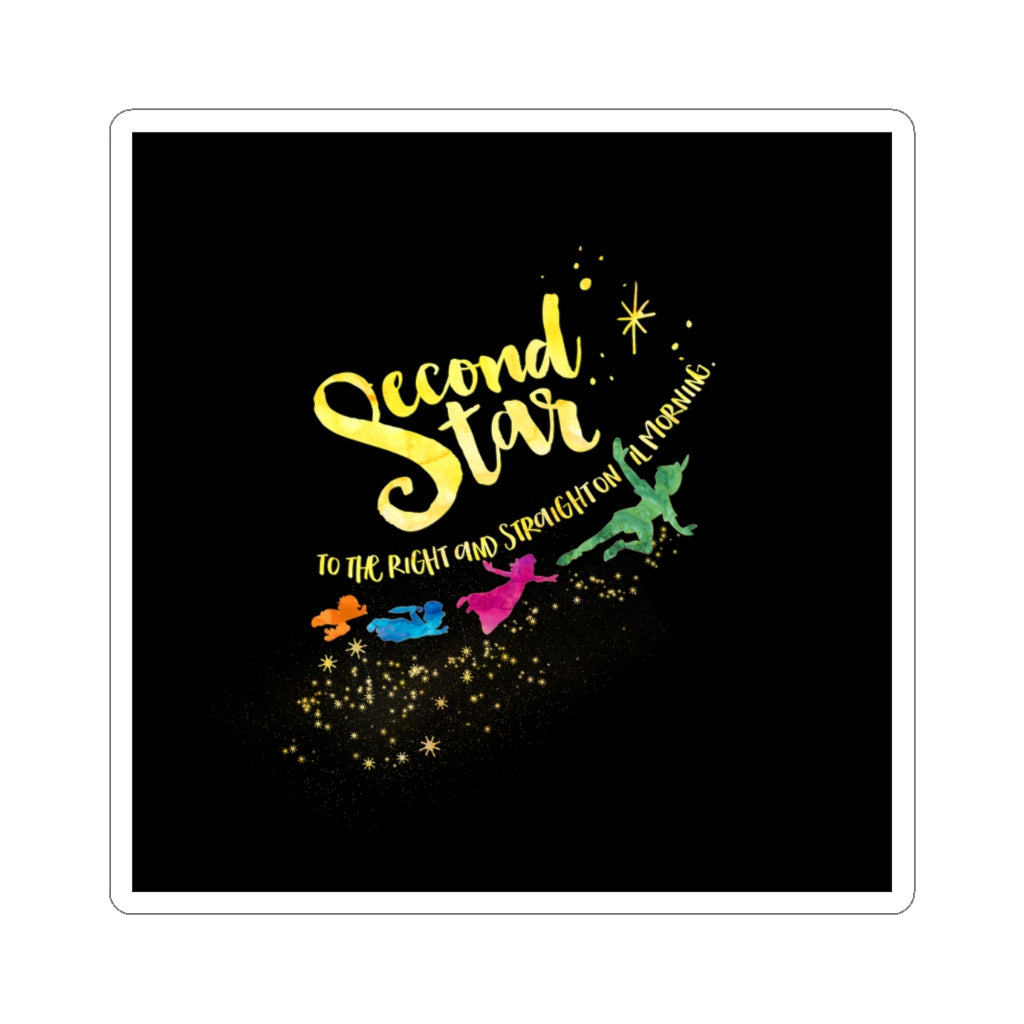 Second star to the right... Peter Pan Quote Sticker - LitLifeCo.