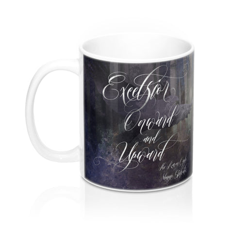 Excelsior. Onward... The Raven Cycle Mug - LitLifeCo.