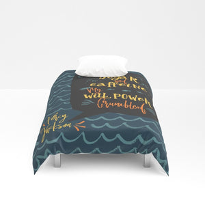 Sugar and caffeine... Percy Jackson Quote Duvet Cover - LitLifeCo.