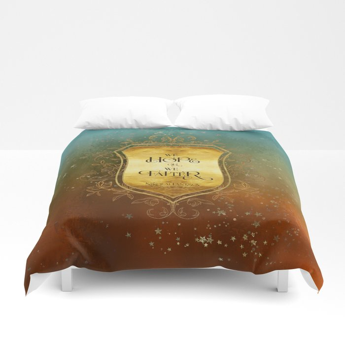We hope or we falter. Nikolai Lantsov Quote Duvet Cover - LitLifeCo.