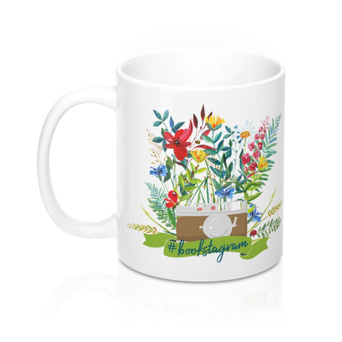 #bookstagram Floral Mug