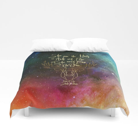 She was the heir of ash and fire... Heir of Fire (Throne of Glass Series) Quote Duvet Cover